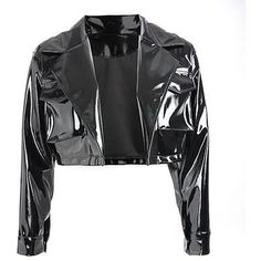 New fashion gothic PU biker leather jackets and coats black womens tops long sleeve motorcycle crop jacket 2019 spring women . Stage Outfits, Edgy Outfits, Cool Outfits, Fashion Outfits, Teen Fashion, Korean Fashion, Womens Fashion, Black Women's Tops, Bright Shorts