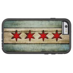 Vintage Chicago Flag Distressed Wood Look Tough Xtreme iPhone 6 Case Iphone 7 Cases, Iphone 6, Rugged Style, How To Distress Wood, Chevrolet Logo, Screen Protector, Vintage Shops, Chicago, Flag