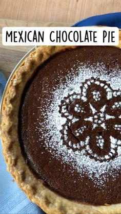 Mexican Chocolate, Chocolate Pies, Mexican Food Recipes, Sweet Recipes, Dessert Recipes, Just Desserts, Delicious Desserts, Yummy Food, How Sweet Eats