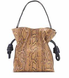 Flamenco Knot snakeskin shoulder bag   Loewe