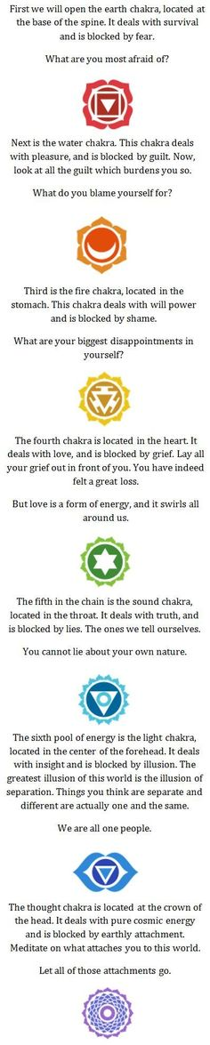 Discover the 7 chakras and how the energy from each one can affect your emotions. Click on the image to read more
