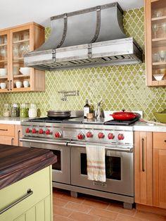 kitchen backsplash | 25 kitchen backsplash ideas: brilliant-yellow
