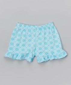 Aquatic Rings Ruffle Shorts - Infant Toddler & Girls