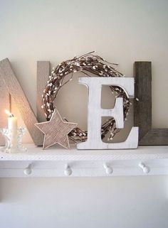 Christmas Mantel, Rustic Christmas Décor, Christmas Shelf
