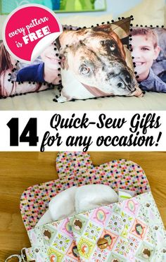 Sewing Gifts 14 Quick Sew Gifts for Any Occasion {all free patterns or tutorials} — SewCanShe Easy Sewing Projects, Sewing Hacks, Sewing Tutorials, Sewing Crafts, Sewing Basics, Sewing Tips, Sewing Ideas, Quilt Patterns Free, Free Pattern