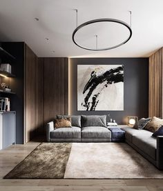40 Decor ideas To Look For Those Who Want To Renovate The Living Room. Page to our 2019 summer gallery of popular living room decor ideas. We are sure that this year's most popular furniture colors and shapes will win . Apartment Interior, Home Living Room, Interior Design Living Room, Living Room Designs, Living Room Decor, Decor Room, Design Interior, Home Design, Wall Decor