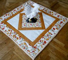 County Primitive Quilted Table Topper by ForgetMeNotQuilteds