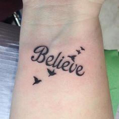 1e40d6c0a Believe Tattoo Design Believe Wrist Tattoo, Believe Tattoos, Heart Tattoo  Designs, Tattoo Designs