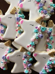Cute and Colorful Unicorn Cookies