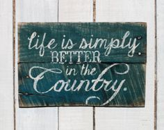 Rustic Country Hand Painted Reclaimed by EverydayCreationsJen