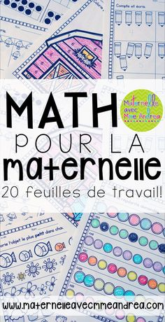 French MATH Worksheets (No Prep! Number Sense Kindergarten, Kindergarten Math Activities, Teaching Math, Number Activities, French Teaching Resources, Teaching French, French Classroom, Math Classroom, School Lessons
