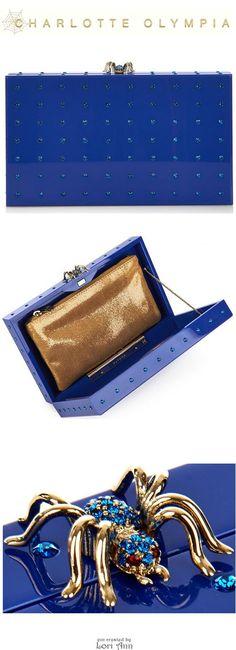 d2ad69110 Charlotte Olympia Pandora Clutch in Blue Sacos De Embreagem, Carteira  Clutch, Bolsas Bonitas,