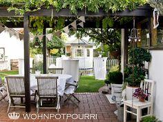 Garten - Pergola - Pavillon - shabby chic - vintage - decoration