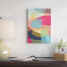 """East Urban Home 'Layered Earth I' Rectangle Painting on Wrapped Canvas Size: 40'' H x 26"""" W x 1.5"""" D"""
