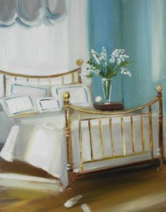 A brass bed by Janet Hill