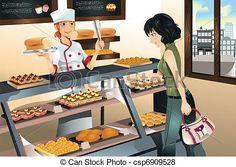 Vector -panadería, pastelería...