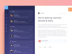 Email Dashboard UI, features inspired by Spark (iOS email app).