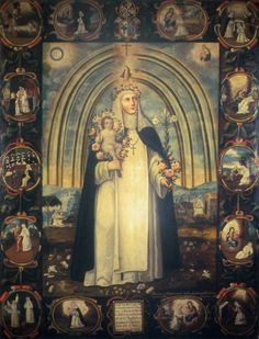 Sta. Rosa de Lima, Juan Correa, Templo del Exconvento Santo Domingo, Mixcoac, México.