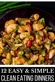 12 Easy Clean Eating Dinner Recipes Ready To Eat In 30 Minutes Whether you're eating clean for weight loss or you just want to prepare healthy meals for family dinner, I've got a few recipes you'll…More Easy Clean Eating Recipes, Clean Dinners, Clean Eating Chicken, Clean Eating Recipes For Dinner, Clean Eating Snacks, Healthy Dinner Recipes, Easy Meals, Healthy Eating, Healthy Chicken