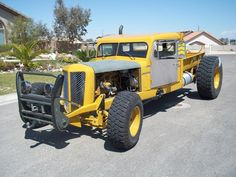 Diesel Tractor Rat Rod #yellow