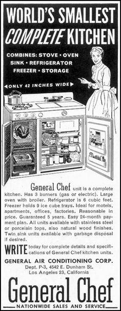 GENERAL CHEF KITCHEN - SATURDAY EVENING POST - 02/05/1955 - p. 74
