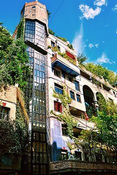 Green Architecture in Vienna, Austria - Hundertwasserhaus