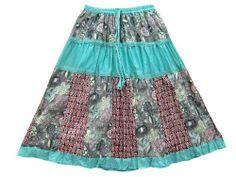 Gypsy Boho Maxi Skirt Turquiose Printed Crinkled Patchwork Long Skirts Mogul Interior,http://www.amazon.com/dp/B00ISRK2ZA/ref=cm_sw_r_pi_dp_-Nfgtb11V6KGEVD1