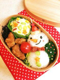 Christmas Bento,  クリスマスお弁当・スノーマン2