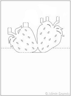 strawberry pop-up Kirigami Patterns, Kirigami Templates, Pop Up Card Templates, Card Patterns, 3d Cards, Pop Up Cards, Paper Cards, Xmas Cards, Pop Up Karten