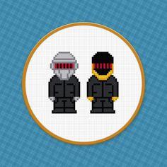(10) Name: 'Embroidery : Daft Punk Cross Stitch PDF Pattern