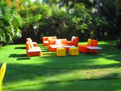 Fun lounge furniture for outdoor event