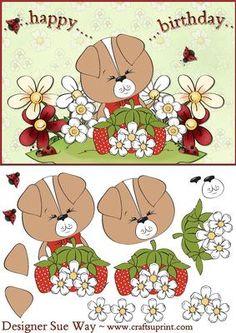Strawberry Hill Puppy Decoupage