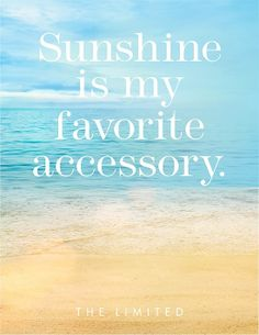 Sunshine is my favorite accessory! Free Shipping With $125 purchase, or $8.95 standard shipping from the Limited at www.MasonDiscounts.com! Support student scholarships at George Mason University!