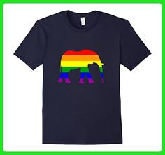 Mens Rainbow Elephant Gay Pride Flag LGBTQ t-shirt Small Navy - Animal shirts (*Amazon Partner-Link)
