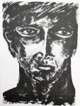 Portrait X, lithography on paper, 28,5 x 38 cm, 2012