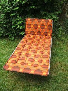 Vintage/ Retro Reclining Folding Sun Lounger/ Spare Bed/ VW Camping/ Garden etc | eBay
