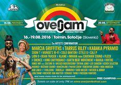 Rising Time: OVERJAM INTERNATIONAL REGGAE FESTIVAL: FROM 16 TO 19 AUGUST