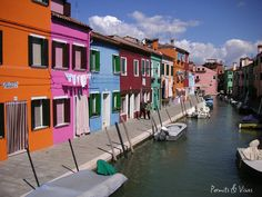 The Colorful home of Burano, Italy a sight to behold. The Amazing pastels make it one of the best looking cityscapes in the world. A great day trip for anyone near Venice Italy. Pictures Of Venice, Tuscan Art, Colourful Buildings, Colorful Houses, Beautiful Places To Travel, Visit Italy, Travel And Leisure, Culture Travel, Countries Of The World