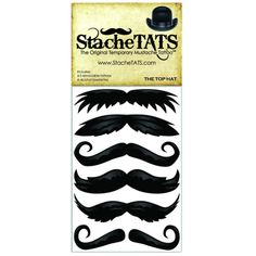 Bulk joking around self adhesive artificial mustaches 7 for Mustache temporary tattoos