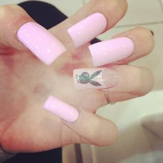 pale pink play boy bunny nails      work it