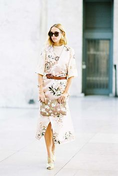 Floral on floral street style