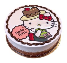 This Hello Kitty chocolate cake