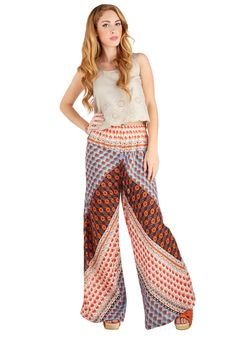 Palazzo to Talk About Pants. You may have met up with your bestie to gush on the latest in your love lives, but she cant seem to stop talking about your great printed pants! #multi #modcloth