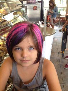 Elumen hair color - kid with swag