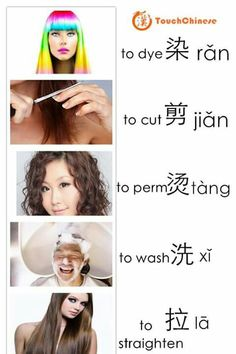 At the Hair Salon Basic Chinese, Chinese Words, Chinese English, World Languages, Languages Of China, Learn Chinese Characters, Chinese Alphabet, Chinese Language, English Language