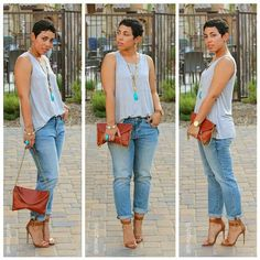 Simple and cute, yet casual. Love the heels