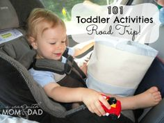 101 Toddler Activities - Road Trip ideas, games, and hands on activities for kids - parents, keep your child busy and happy in the car on long trips. Perfect for travel with toddler or preschool aged kids. Craft Activities For Kids, Toddler Activities, Projects For Kids, Travel Activities, Little People, Little Ones, For Elise, My Bebe, Travel With Kids