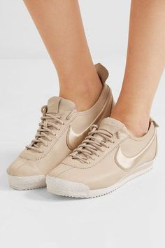 Nike - Cortez 72 Si Embroidered Leather Sneakers - Beige - US