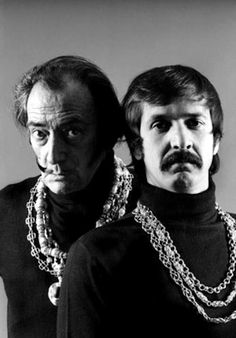Why on earth did these two pose for a formal portrait together?  Salvador Dali and Sonny Bono.