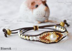 Beaded bracelet and beads, Miguel Ases, bracelet cord, fenugreek
